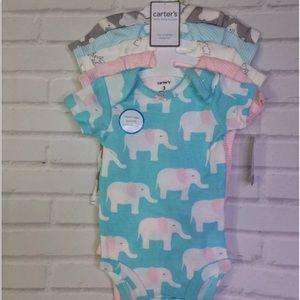 Carters Infant Girls 5 Piece Bodysuits Size 3M